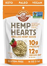 Manitoba Harvest Hemp Hearts Shelled Hemp Seeds, 16oz; 10g Protein & 12g Omegas per Serving, Whole 30 Approved, Vegan, Keto, Paleo, Non-GMO, Gluten Free
