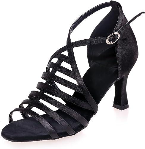 L@YC Femme Chaussures De Danse Cuir Artificiel Latin Sandales De Salle De Bal Cubain DéButant Professionnel Personnalisable