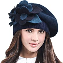 F&N STORY Lady French Beret Wool Beret Chic Beanie Winter Hat Jf-br034