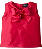Oscar de la Renta Childrenswear - Taffeta Sleeveless Bow Blouse (Toddler/Little Kids/Big Kids)