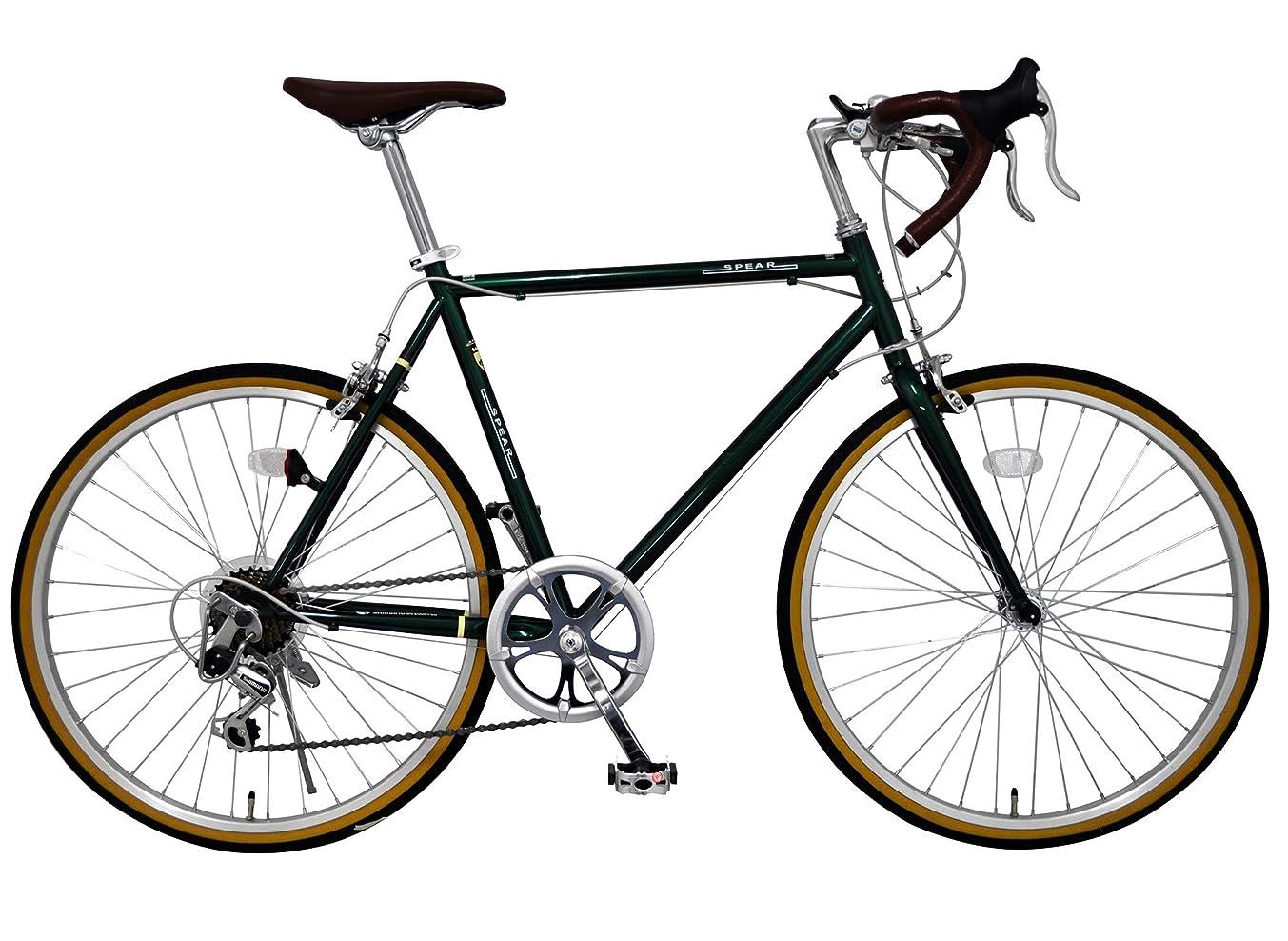 独立してボルト同性愛者SPEAR (スペア) ロードバイク 24インチ シマノ製 7段変速 SPR-247 ディレーラー Tourney(ターニー) 適用身長155cm以上 男性 女性