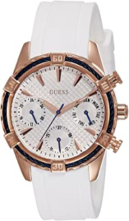 Guess Women's White Dial Silicone Band Watch - W0562L1