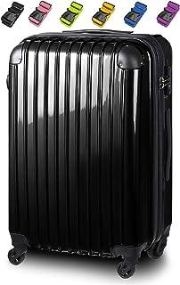 【スーツケースベルト付き】 YKKジッパー 拡張機能 コーナーパット 機内持込 大型 軽量 専門メーカーが本気で作ったスーツケース CL-1804A