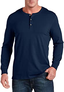 Harbor Bay by DXL Big and Tall Wicking Long-Sleeve Henley Shirt