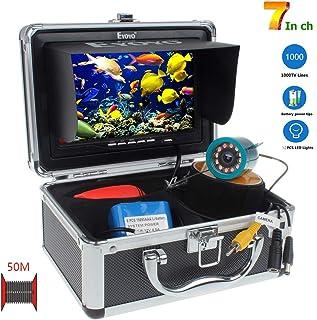 SEXTT Buscador de Peces Profesional cámara giratoria de 360 Grados grabadora DVR de 7 Pulgadas 50 Metros de Pesca submarina IP68 buscador de Peces a Prueba de Agua