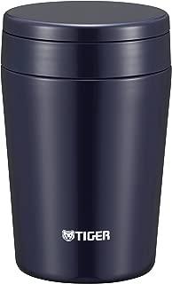 タイガー 魔法瓶 真空 断熱 スープ ジャー 380ml 保温 弁当箱 広口 まる底 インディゴブルー MCL-B038-AI Tiger