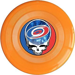 SYYFB Unisex Skull Carolina Football Outdoor Game Frisbee Light Up Flying Yellow