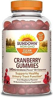 Sundown Cranberry 500 mg, 75 Gummies
