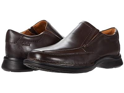 Clarks Kempton Free (Dark Brown Leather) Men