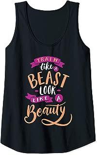 Womens Train Like A Beast Look Like A Beauty Tank Top