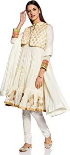 Rangriti Women's Cotton a-line Salwar Suit Set