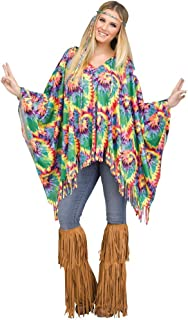 Adult Tie Dye Hippie Poncho