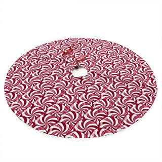 NINAIN Christmas Peppermint Candy Scales Christmas Tree Skirt 35.5 Inch Merry Christmas Tree,Tree Skirt for Xmas Decor Festive Holiday Decoration