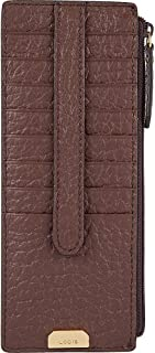 Lodis Borrego Under Lock and Key Credit Card Case with Zipper (Dark Brown)