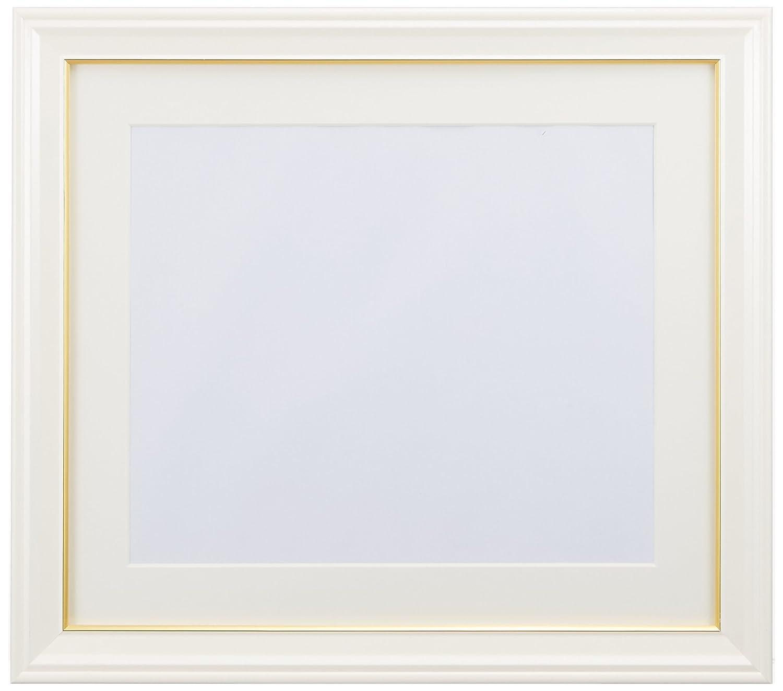 誰専ら体系的にFUJICOLOR 額縁 肖像額 パールホワイト 4切 木製 ホワイト 41062
