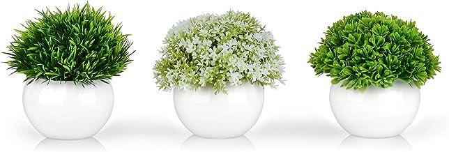 Mini Artificial Plants | Modern Farmhouse Plants Home Decor | Small Fake Plants | Office/Kitchen/Bathroom/Bedroom/Mantle/S...