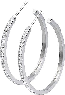 Tamaris, orecchini a cerchio Patty, 3,5 cm, colore: argento