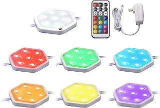 BLACK+DECKER LEDUC-PUCK-7RGB Puck Light Kit, 7-Pack, RGBW (Red, Green, Blue, Cool White)