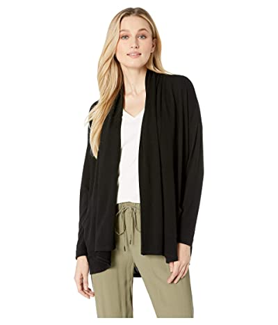 Karen Kane Drape Cardigan Sweater (Black) Women