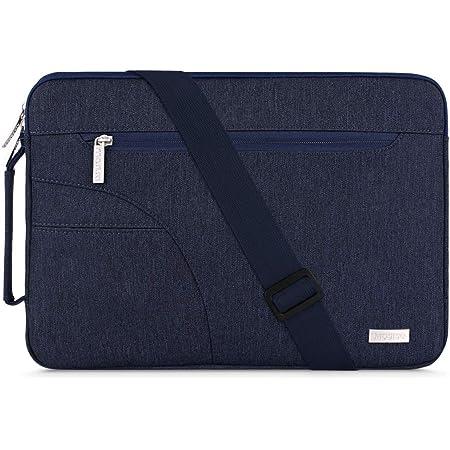 MOSISO Funda Protectora Compatible con 13-13.3 Pulgadas MacBook Air/MacBook Pro/Notebook Portátil, Bolsa de Hombro Blanda Maletín Bandolera con Asa ...