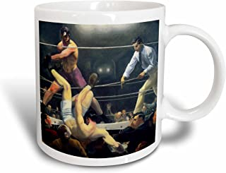Set of 8 3dRose cst/_79452/_2 Vintage Art Dempsey and Firpo Boxing Match 1924 by Artist George Bellows Soft Coasters
