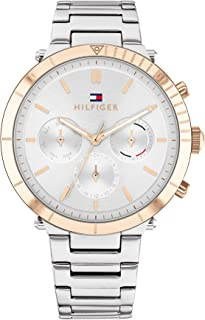 TOMMY HILFIGER EMERY WOMEN's SILVER WHITE DIAL WATCH - 1782348