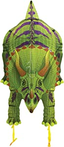 WindNSun DinoSoars Triceratops Rip-Stop Nylon Kite, 48 Inches Tall