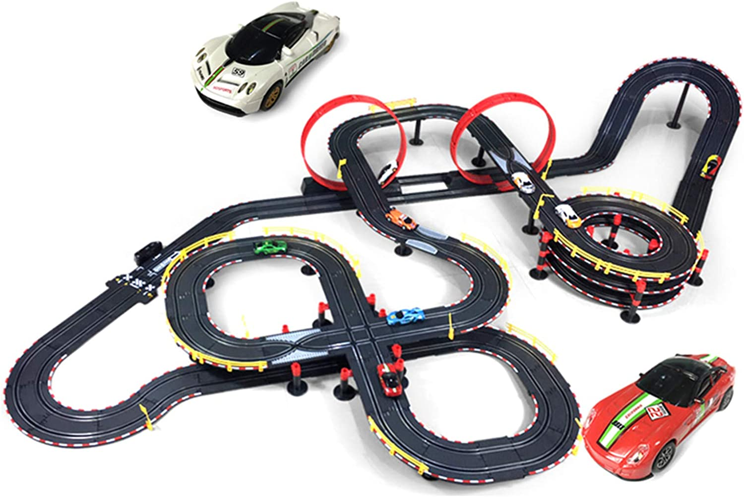 LINGLING Track Racing Toy Slot Car Vehicle Race Sets Electric Re