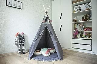 Grey teepee tent for kids, handmade tipi, teepee tent, tipi tent, kids tent play tent, teepee for kids, kids play tent, childrens teepee