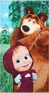 cotone Masha and the Bear /– 60 x 40 cm regalo per ragazze Asciugamano per bambini Asciugamano per ospiti fazzoletto Masha