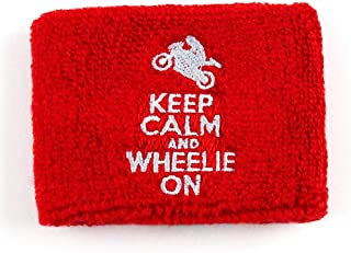 Reservoir Socks	Keep Calm Wheelie On Brake Reservoir Covers by Reservoir Socks for Motorcycles, Sportbikes
