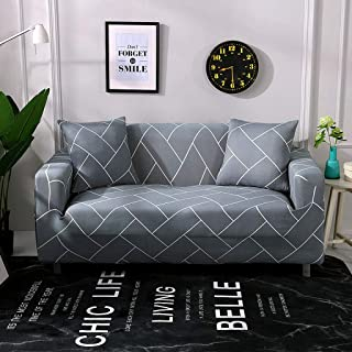 Stretch Sofa Cover,All Inclusive Anti-Slip Couch Cover Soft Slipcover Christmas Santa Claus Washable Four Seasons L-Shaped Chaise Lounge Sofa Slipcover 1/2/3/4 Seater-AS-235-300cm(93-118inch)