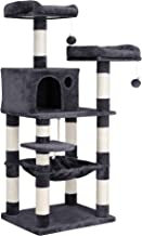 FEANDREA 56.3 inches Multi-Level Cat Tree with Sisal-Covered Scratching Posts, Plush Perches, Hammock and Condo, Cat Tower...