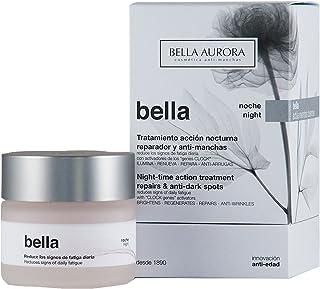 Bella Aurora Bella Crema Facial Noche Anti-Arrugas y Anti-Edad para Mujer Tratamiento Reparador Anti-Manchas de acción Noc...
