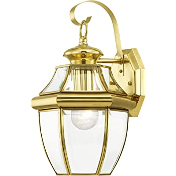 NY8317B Quoizel 2 Light Newbury Outdoor Wall Lanterns Polished Brass