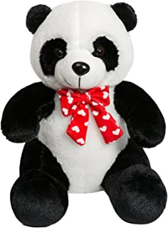 iBonny Panda Teddy Bear Stuffed Animal with Red Tie Classic Soft Plush Kids Toy 15 Inch