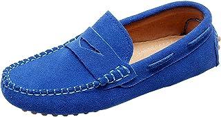 PPXID Fille Gar/çon Classique Su/ède Cuir Mocassins Loafers Chaussures
