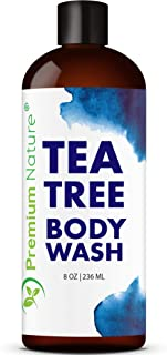 Tea Tree Body Wash Antibacterial - Antifungal Bodywash Tee Tree Essential Oil Soap Cleanser All Natural 100% Pure Shower G...