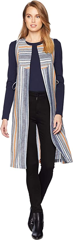 Variegated Stripe Long Vest