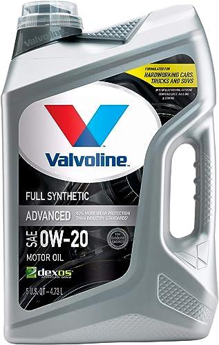 Valvoline - 881150-EA Advanced Full Synthetic SAE 0W-20 Motor Oil 5 QT
