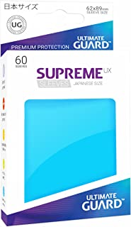 Ultimate Guard Supreme Japanese UX Card Sleeves (60 Piece), Light Blue
