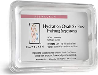 Bezwecken – Hydration Ovals 2X Plus DHEA – 16 Extra Strength Oval Suppositories – Same Trusted Formula, New Improved Shape – Professionally Formulated to Alleviate Vaginal Dryness in Menopausal Women