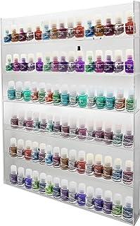 PC3721® - Soporte de pared para esmalte de uñas de acrílico brillante 610 x 521 x 51 mm transparente