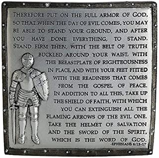 Decorative Armor of God Ephesians 6:13-17 Desk Plaque