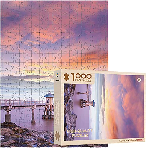2021 OPTIMISTIC Wooden Puzzle 1000 Piece - Sunset by The popular Sea Landscape Puzzles - DIY Puzzle Game Collection Artwork for Adults outlet sale Teens - 1000 Piece Jigsaw Puzzles, 20x15In, 2MM Thick sale