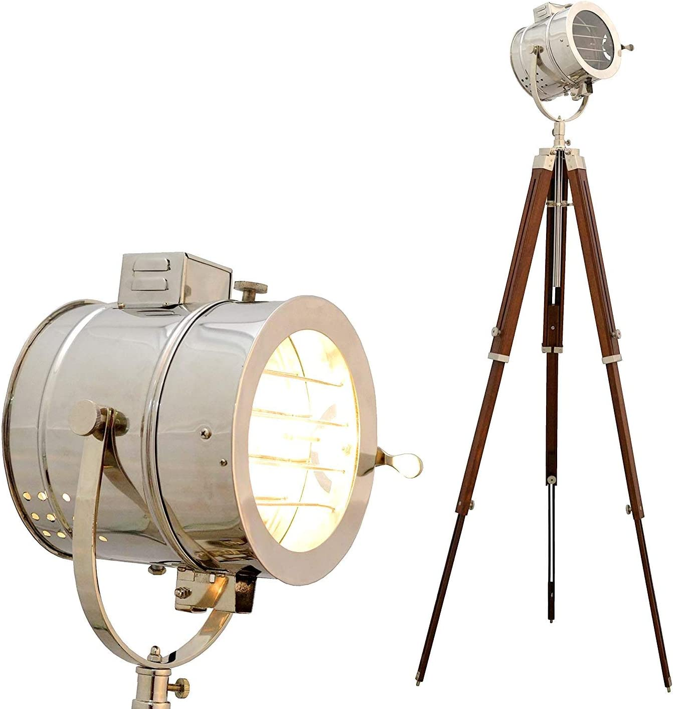 Nautical Hollywood Marine Cheap mail order specialty store Free Shipping New Vintage Spotlight Home Lamp Floor Deco