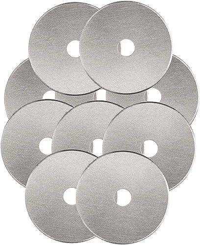 Rotary Cutter Blades 45mm 10 Pack by KISSWILL, Fits Fiskars, Olfa, Martelli, Dremel, Truecut, DAFA Rotary Cutter Repl...