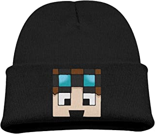 Dan TDM Warm Winter Hat Knit Beanie Skull Cap Cuff Beanie Hat Winter Hats Children
