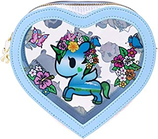 Tokidoki Watercolor Paradise Clear Cosmetic Case in Clear/Blue