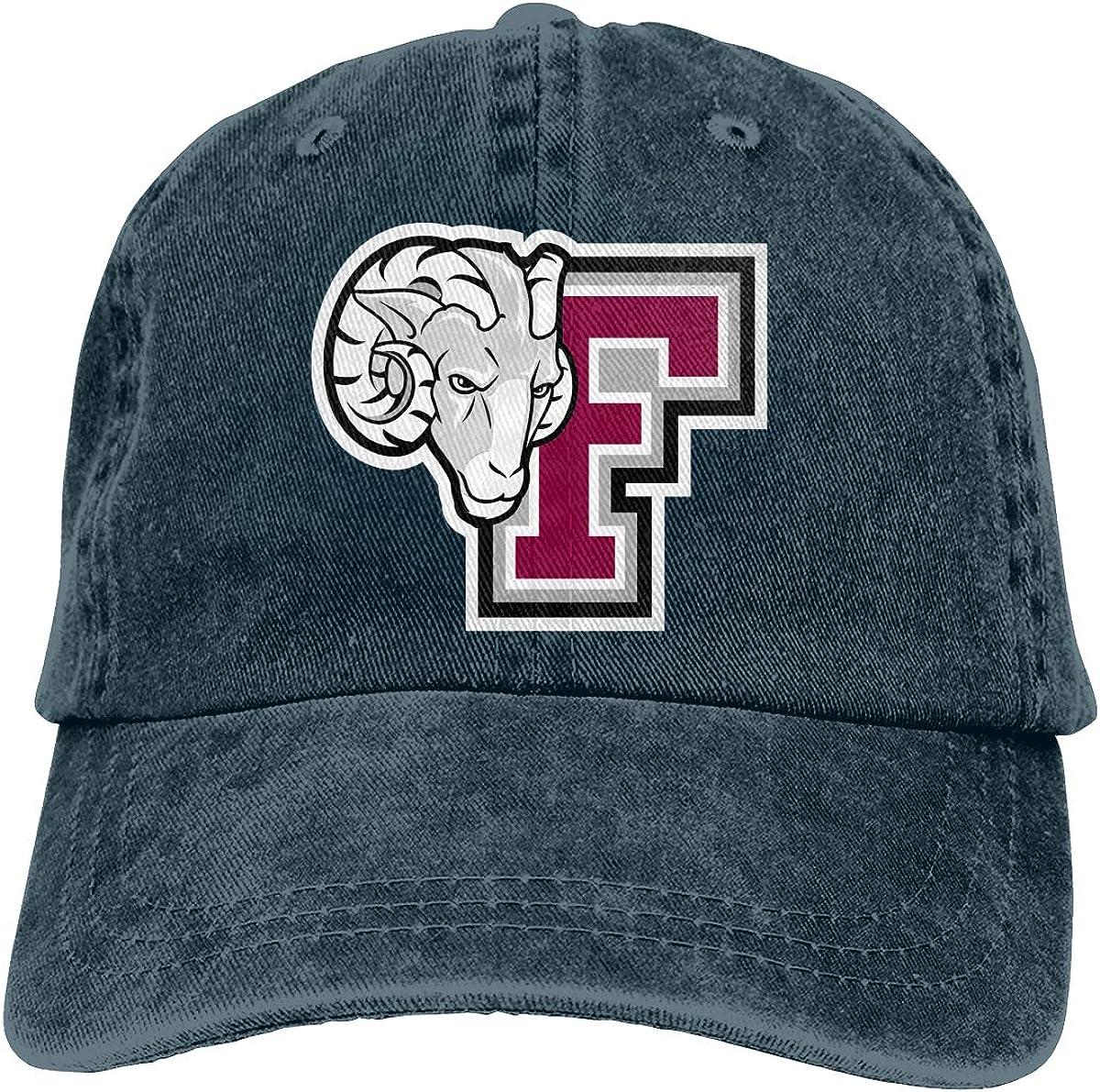 Younnerr Baseball Caps Logo of Fordham University Lightweight Men's&Womens Denim Caps Adjustable